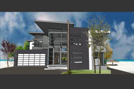 Beach Front Modern Home Design Cylinders Drive Kingscliffe